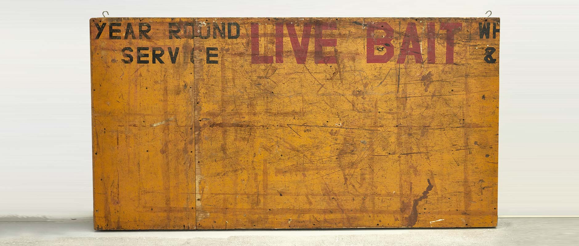 Vintage Live Bait sign from the original Parkdale location
